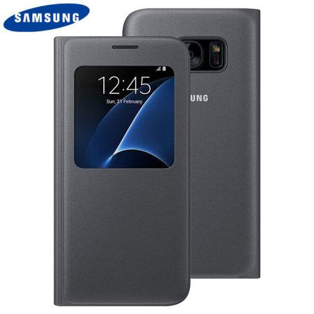 Funda Samsung Galaxy S7 Oficial S View Premium - Negra