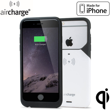 size 40 9f07d cc136 aircharge MFi iPhone 6S Plus / 6 Plus Wireless Charging Case - White