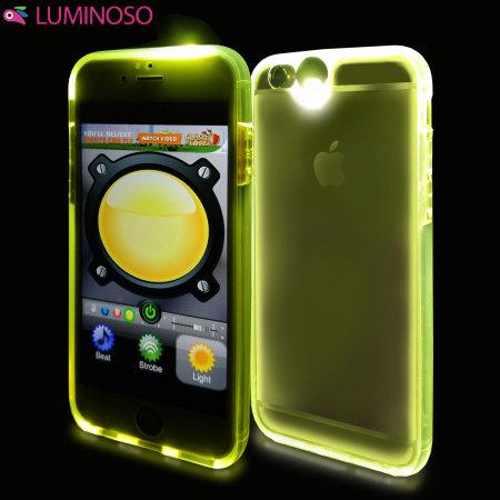 huge discount 00a27 90d0c Luminoso Multicolour iPhone 6S / 6 Light Up Selfie Case - Clear