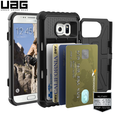 reputable site 7b717 23f19 UAG Samsung Galaxy S7 Protective Card Case - Black