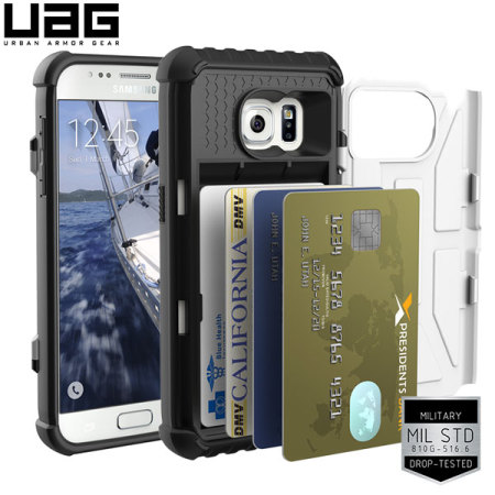 UAG Samsung Galaxy S7 Protective Card Case - White / Black