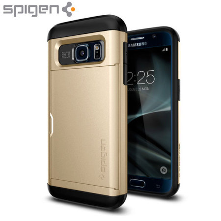 new product 905f2 4811b Spigen Slim Armor CS Samsung Galaxy S7 Case - Gold