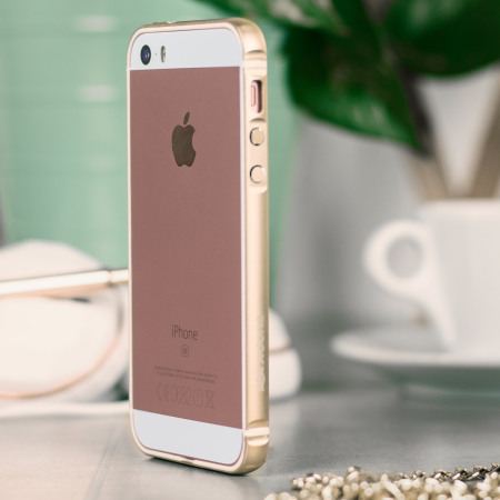 low priced 408f4 5d7bf X-Doria Bump Gear Plus iPhone SE Aluminium Bumper Case - Gold