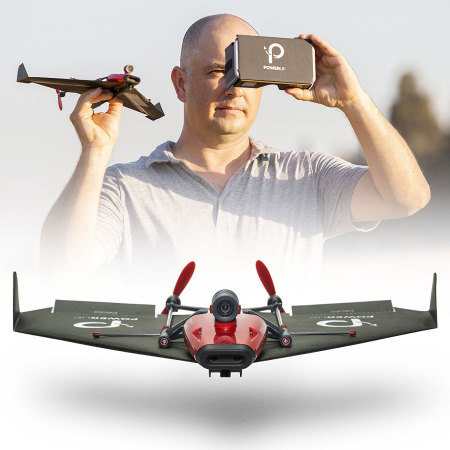 PowerUp FPV - Paper Plane With Live Streaming VR Controlled Headset