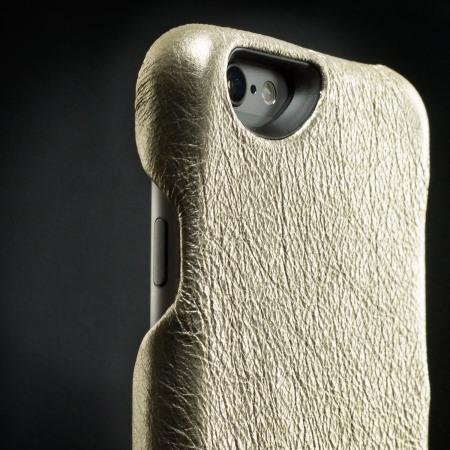 vaja metallic grip iphone 6s 6 premium leather case vintage gold