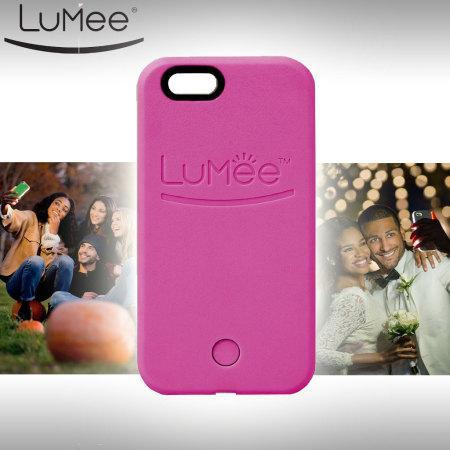 best loved e8873 47f4a LuMee iPhone 6S / 6 Selfie Light Case - Hot Pink