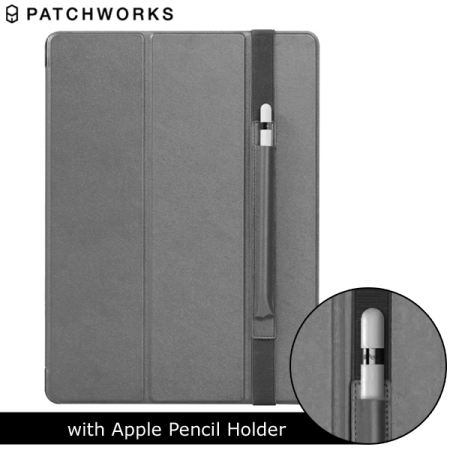 patchworks purecover ipad pro case with apple pencil holder grey. Black Bedroom Furniture Sets. Home Design Ideas