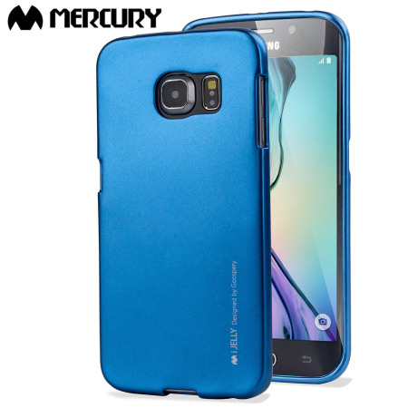 Mercury iJelly Samsung Galaxy S6 Edge Gel Case - Metallic Blue