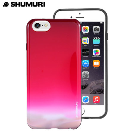 Shumuri Duo iPhone 6S Plus / 6 Plus Case - Cardinal Pink