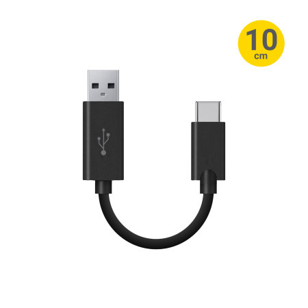 Olixar Short USB-C Charging Cable with USB 3.0 - 10cm