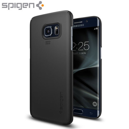 check out 5363d 70995 Spigen Thin Fit Samsung Galaxy S7 Edge Case - Black
