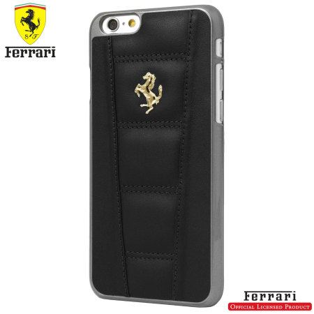 low priced 57ab9 ff05e Ferrari 458 Genuine Leather iPhone 6S Plus / 6 Plus Hard Case - Black