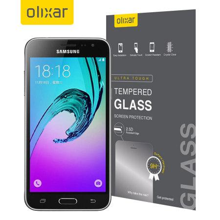 Pellicola protettiva in vetro temperato Olixar per Galaxy J3 2016