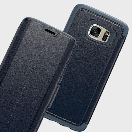 half off 61bae 96587 OtterBox Strada Series Samsung Galaxy S7 Edge Leather Case - Blue