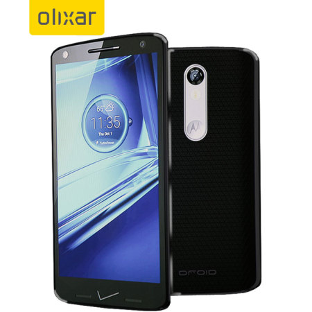 FlexiShield Motorola Droid Turbo 2 Gel Case - Smoke Black