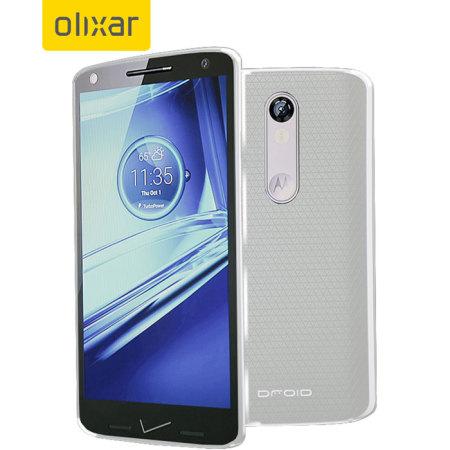 Olixar FlexiShield Motorola Droid Turbo 2 Gel Case - Frost White