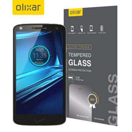 reputable site d56c1 ca26a Olixar Motorola Droid Turbo 2 Tempered Glass Screen Protector
