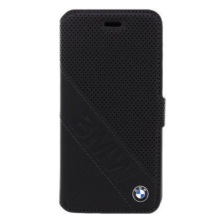 buy popular 92a9c 35dd4 BMW Genuine Leather iPhone 6S / 6 Wallet Case - Black