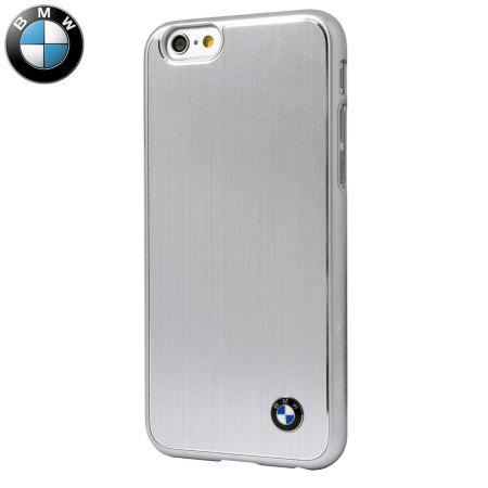 BMW Brushed Aluminium Finish iPhone 6S / 6 Hard Case - Silver