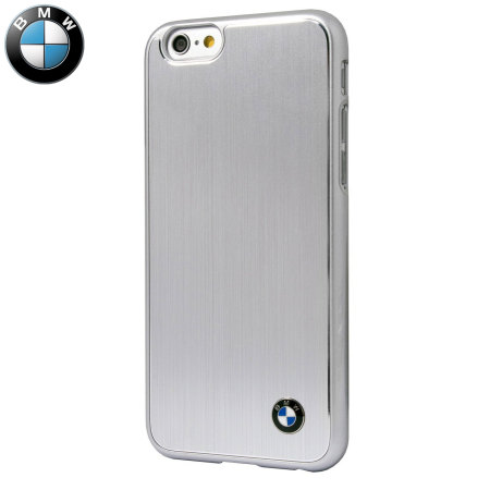 100% authentic a81b0 7f1fe BMW Brushed Aluminium iPhone 6S Plus / 6 Plus Hard Case - Silver