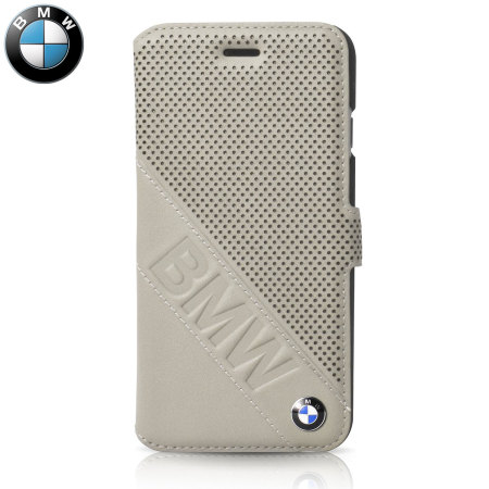 super popular 8dfeb 77a50 BMW Genuine Leather iPhone 6S / 6 Wallet Case - Taupe