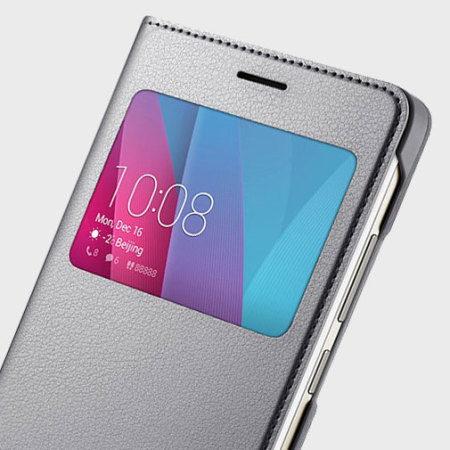 Housse officielle huawei honor 5x view flip grise for Housse honor 5x