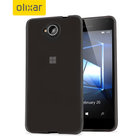 FlexiShield Microsoft Lumia 650 Gel Case - Smoke Black
