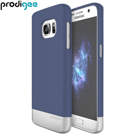 Prodigee Accent Samsung Galaxy S7 Case - Navy Blue / Silver