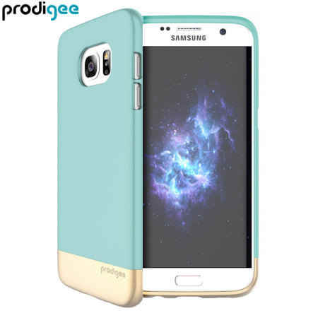 Prodigee Accent Samsung Galaxy S7 Edge Case - Aqua / Gold