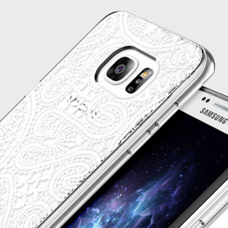 Prodigee Scene Galaxy S7 Edge Case - White Lace