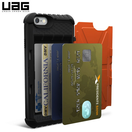 huge discount 3bf08 a85e6 UAG Trooper iPhone 6S / 6 Protective Wallet Case - Orange