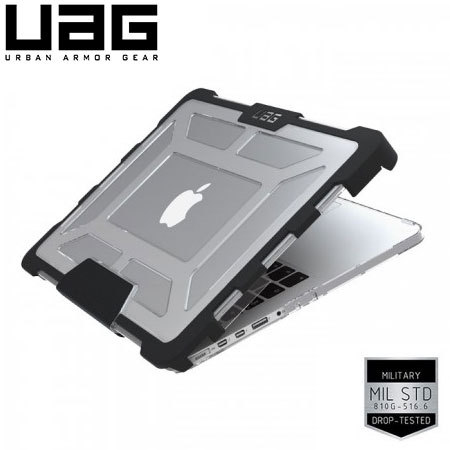 official photos 3ccdd f82a6 UAG MacBook 12 Inch Tough Protective Clear Case - Ice/Black