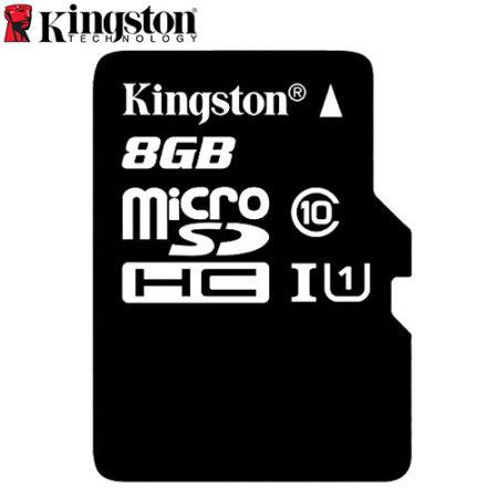 Kingston Digital Class 10 Micro SD Card with Adapter - 8GB