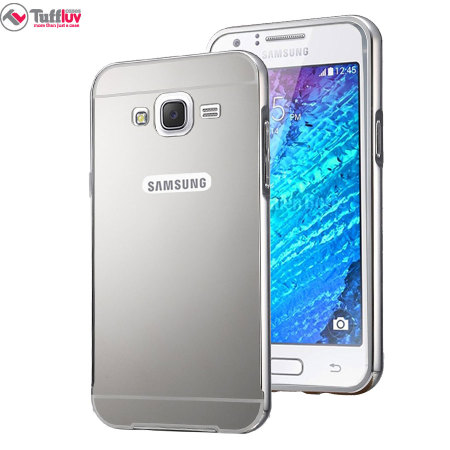 official photos 6131c 946a9 Tuff-Luv Samsung Galaxy J5 2015 Brushed Metal Bumper Case - Silver
