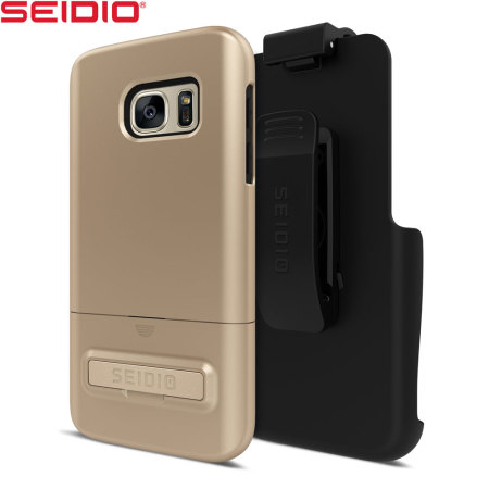 Seidio SURFACE Samsung Galaxy S7 Combo Case - Gold / Black