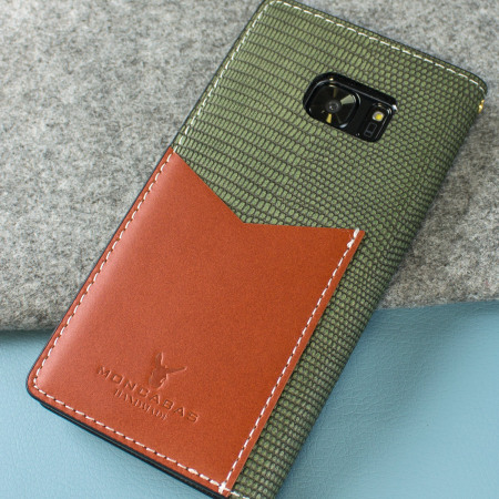 Moncabas Liza Leather Samsung Galaxy S7 Edge Wallet Case - Green