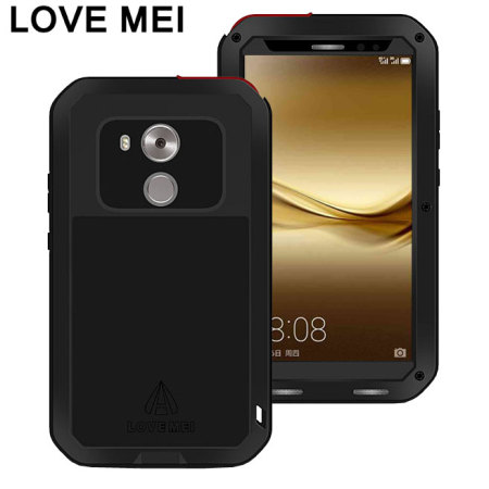 Love Mei Powerful Huawei Mate 8 Tough Case - Black
