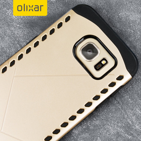 Olixar Shield Samsung Galaxy S7 Edge Case - Gold