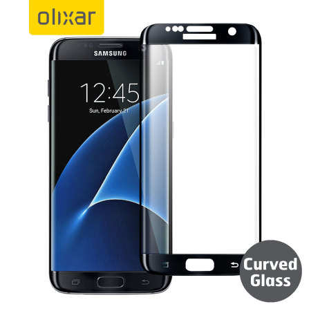 10d72afff21f97 Olixar Samsung Galaxy S7 Edge Curved Glass Screen Protector - Black