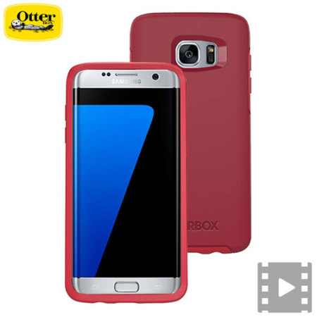 best sneakers 05b3a 1ff2f OtterBox Symmetry Samsung Galaxy S7 Edge Case - Red