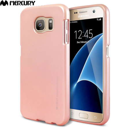 Mercury Goospery iJelly Samsung Galaxy S7 Gel Case - Metallic Rose