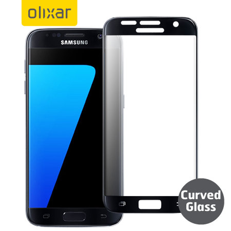 Olixar Samsung Galaxy S7 Curved Glass Screen Protector - Black