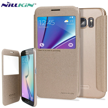 Nillkin Sparkle Big View Window Samsung Galaxy S7 Case - Gold