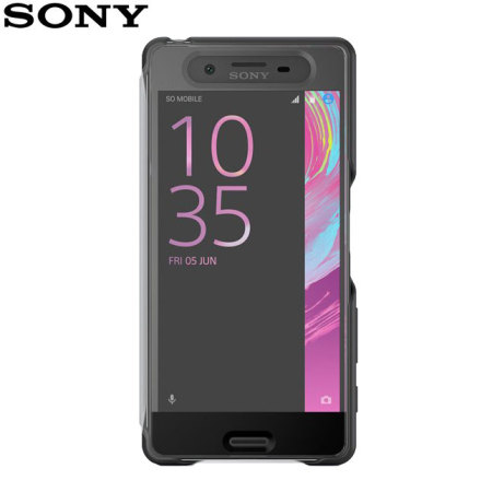 Official Sony Xperia X Style Cover Touch Case - Graphite Black
