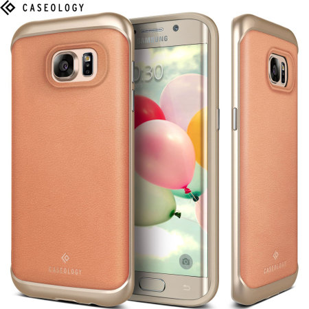 Caseology Envoy Series Galaxy S7 Edge Case - Pink Leather