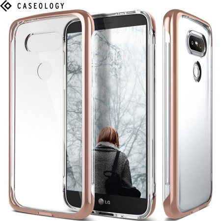 the best attitude 01042 df1fe Caseology Skyfall Series LG G5 Case - Rose Gold / Clear