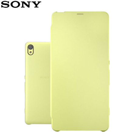 quality design 64d4d 2697a Official Sony Xperia XA Style Cover Flip Case - Lime Gold