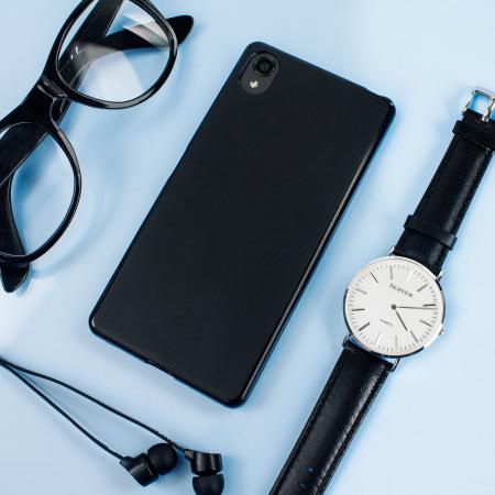 Olixar FlexiShield Sony Xperia X Gel Case - Solid Black
