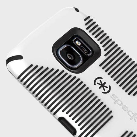 best loved 28733 3472b Speck CandyShell Grip Samsung Galaxy S7 Edge Case - White / Black