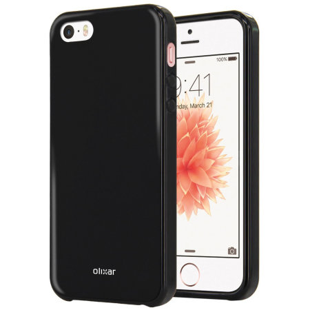 Olixar FlexiShield iPhone SE Gel Case - Black